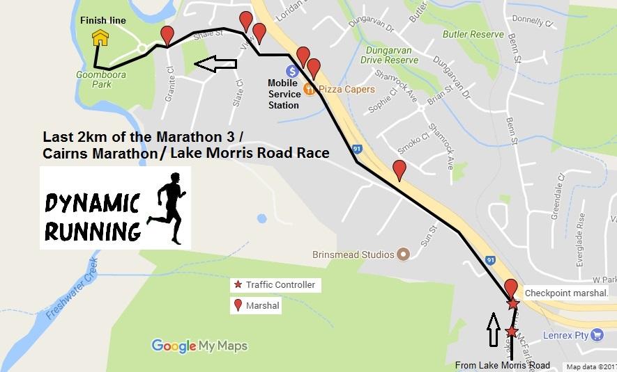 Cairns Marathon 2019: Course Descriptions, Distances, Maps and